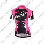 2017 Team Nalini Women's Cycling Jersey Maillot Shirt Pink Black White