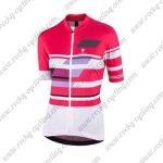 2017 Team Nalini Women's Cycling Jersey Maillot Shirt Pink White