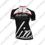 2017 Team Nalini Women's Cycling Jersey Maillot Shirt White Black