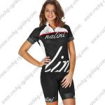 2017 Team Nalini Women's Cycling Kit White Black