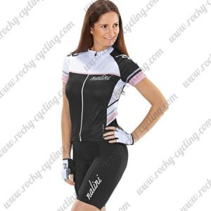 2017 Team Nalini Women's Cycling Kit White Black Pink