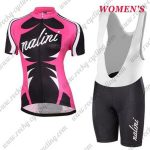 2017 Team Nalini Women's Riding Bib Kit Pink Black White