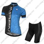 2017 Team Nalini Women's Riding Kit Black Blue