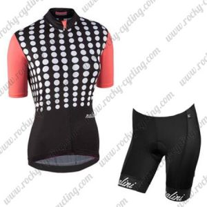 2017 Team Nalini Women's Riding Kit Black Red