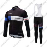 2017 Team ORBEA Cycling Long Bib Suit Black BLue White