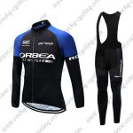 2017 Team ORBEA Cycling Long Bib Suit Black Blue