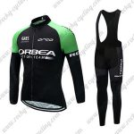 2017 Team ORBEA Cycling Long Bib Suit Black Green