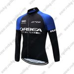2017 Team ORBEA Cycling Long Jersey Black Blue