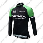2017 Team ORBEA Cycling Long Jersey Black Green