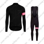 2017 Team Rapha Cycling Long Bib Suit Black Pink