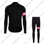 2017 Team Rapha Cycling Long Suit Black Pink