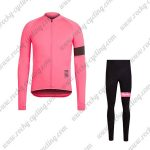 2017 Team Rapha Cycling Long Suit Pink