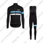 2017 Team Rapha Riding Long Bib Suit Black Blue White