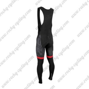 2016 Team BIANCHI Cycling Long Bib Pants Tights Black Red