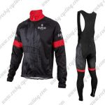 2016 Team BIANCHI Cycling Long Bib Suit Black Red