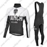 2016 Team BIANCHI Racing Long Bib Suit White Black