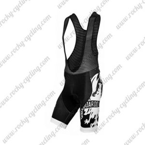 2016 Team BIANCHI Riding Bib Shorts Bottoms Black White