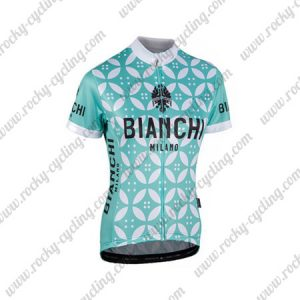2017 Team BIANCHI Womens Cycling Jersey Maillot Shirt Blue White Flowers