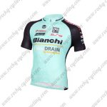 2017 Team Bianchi DRAIN Cycle Jersey Maillot Shirt Blue Black