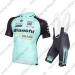 2017 Team Bianchi DRAIN Riding Bib Kit Blue Black