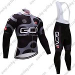 2017 Team GCN Cycling Long Bib Suit Black Grey