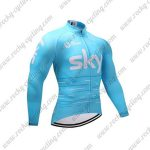 2017 Team SKY Cycling Long Jersey Blue