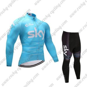 2017 Team SKY Riding Long Suit Blue