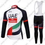 2017 Team UAE Fly Emirates Cycling Bib Suit White Black Red Green