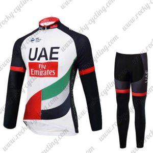 2017 Team UAE Fly Emirates Riding Suit White Black Red Green