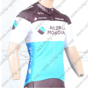 2018 Team AG2R LA MONDIALE Cycling Jersey Blue Brown