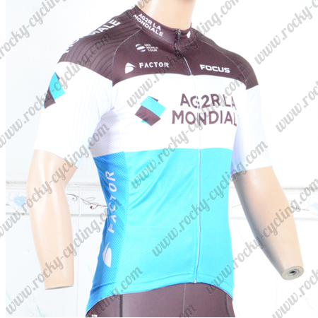 69daa6870 2018 Team AG2R LA MONDIALE Cycle Apparel Riding Jersey Tops Maillot ...
