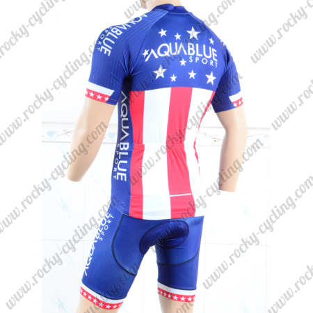 ... Summer Winter Cycle Jersey and Padded Shorts Pants Blue Red. 2018 Team  AQUABLUE Cycling Kit Blue Red. 2018 Team AQUABLUE Racing Kit Blue Red 002283171