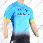 2018 Team ASTANA Cycling Jersey Shirt Blue Black