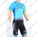 2018 Team ASTANA Cycling Kit Blue Black