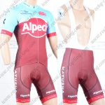 2018 Team Alpecin KATUSHA Cycling Bib Kit Blue Red