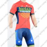 2018 Team BAHRAIN MERIDA Cycling Kit Red Blue