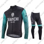 2018 Team BIANCHI Biking Long Suit Black Blue