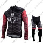 2018 Team BIANCHI Biking Long Suit Black Red