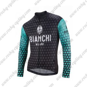 2018 Team BIANCHI Cycling Long Jersey Black Blue