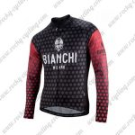 2018 Team BIANCHI Cycling Long Jersey Black Red