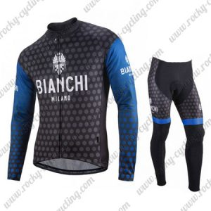 2018 Team BIANCHI Cycling Long Suit Dark Blue Black