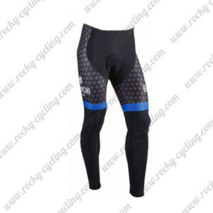 2018 Team BIANCHI Racing Long Pants Tights Dark Blue Black