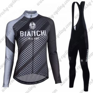 2018 Team BIANCHI Womens Cycling Bib Suit Black Grey