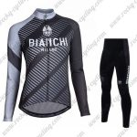 2018 Team BIANCHI Womens Riding Suit Black Grey