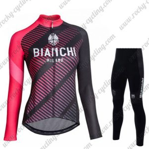 2018 Team BIANCHI Womens Riding Suit Black Red
