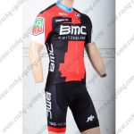 2018 Team BMC Cycling Kit Red Black