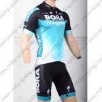 2018 Team BORA hansgrohe Cycling Kit Black Blue