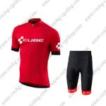 2018 Team CUBE Biking Kit Red