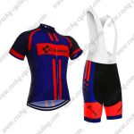 2018 Team CUBE Cycling Bib Kit Black Blue Red