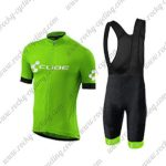 2018 Team CUBE Cycling Bib Kit Green